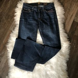 7 for all mankind mid-rise boot cut Sz 26 Drk wash